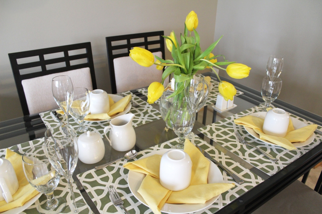 Yellow Tulip Centerpiece